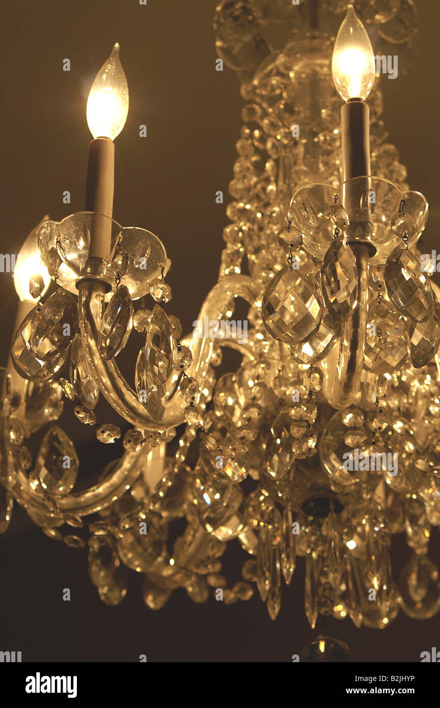 Venetian crystal chandelier in sepia tones stock photo 18848922 alamy venetian crystal chandelier in sepia tones aloadofball Images