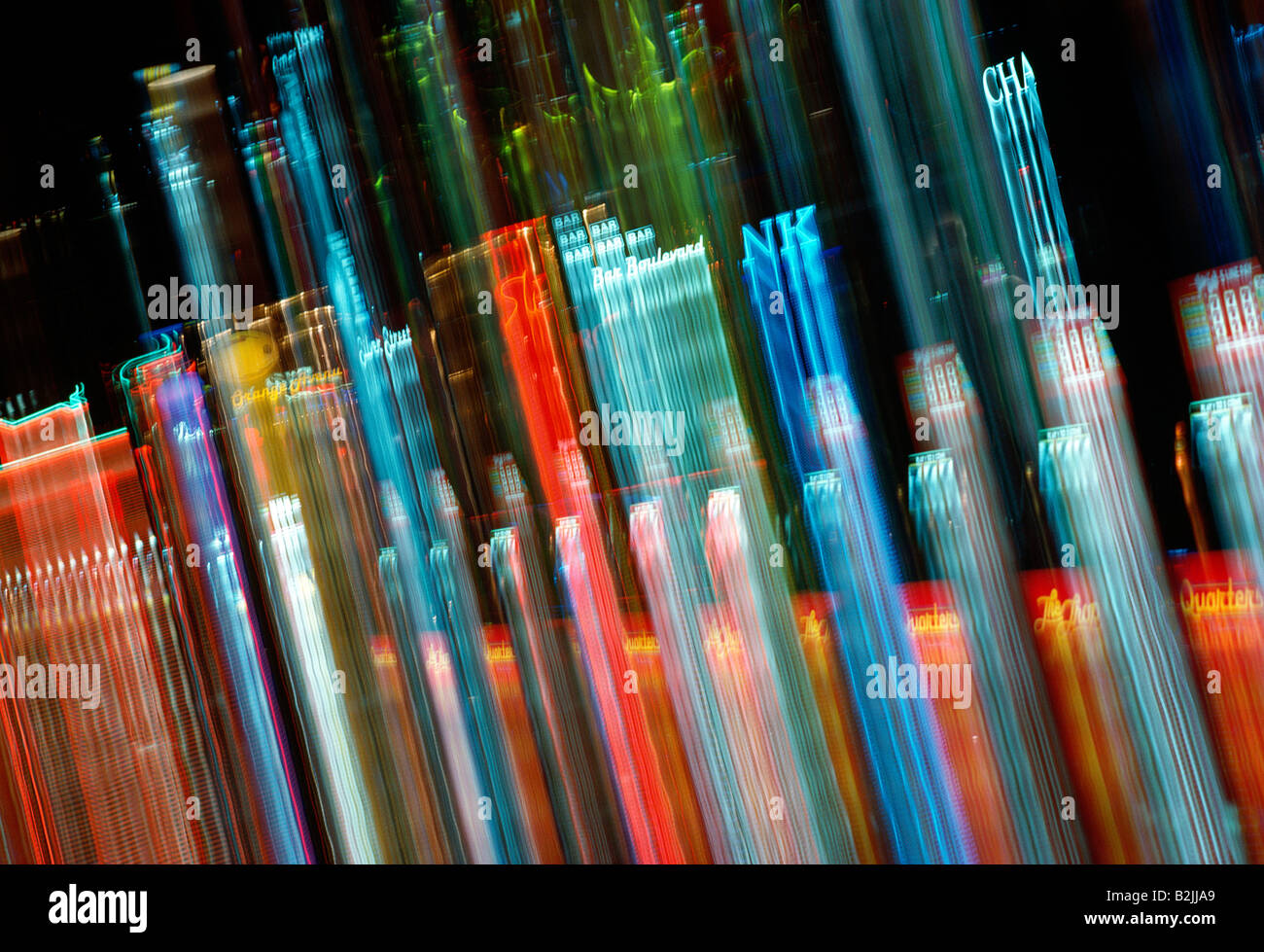 Abstract view of the lights on slot machines  in an Atlantic City, New Jersey, casino - Stock Image