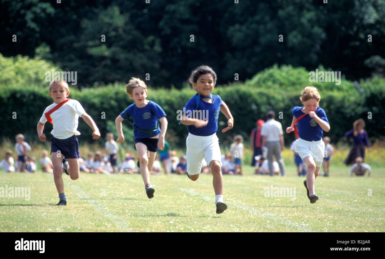 Primary School Sports Day Kids In Running Race