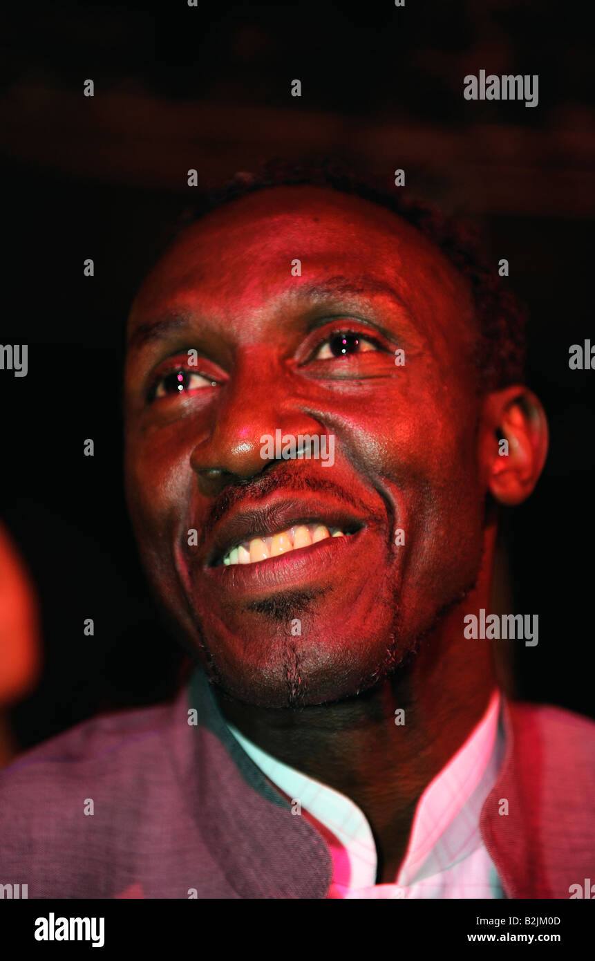 Linford Christie in Beijing, China. 31-Jul-2008 - Stock Image