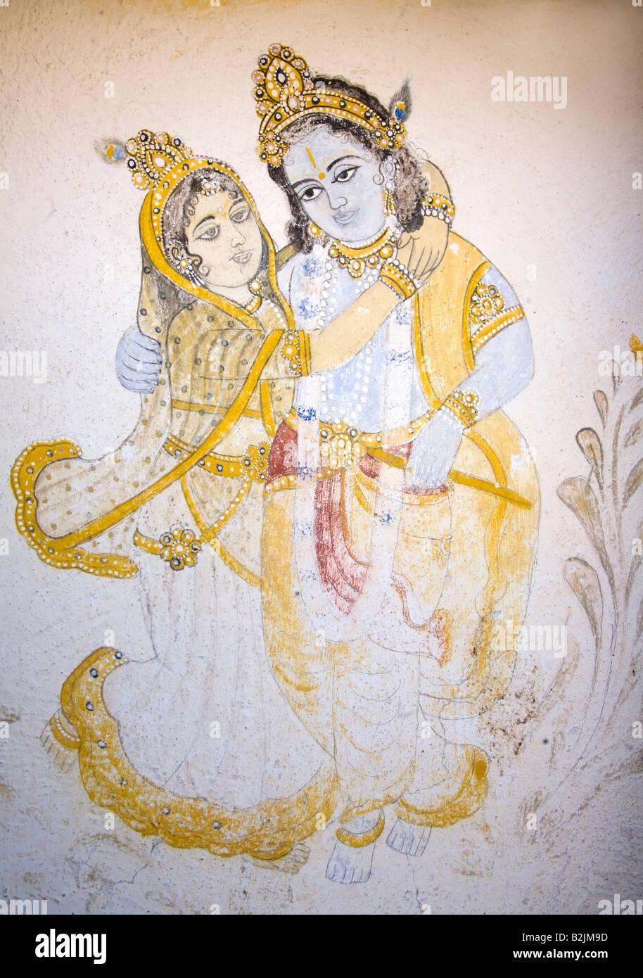 Old Radha Krishna Painting India Stock Photos & Old Radha Krishna ...