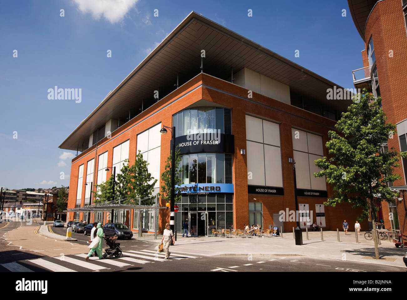 UK Buckinghamshire High Wycombe Lilys Walk town centre redevelopment - Stock Image