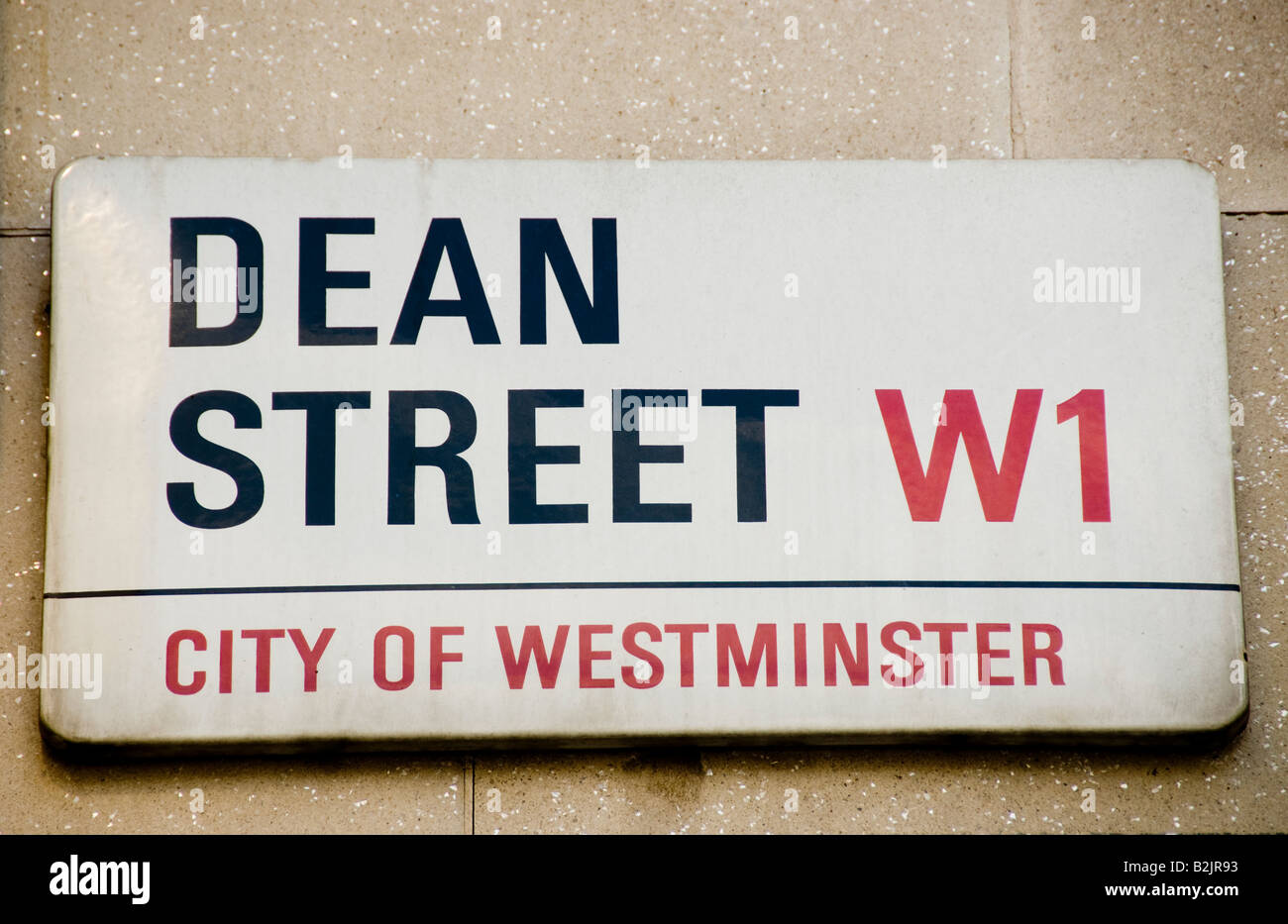 Dean Street sign in London - Stock Image