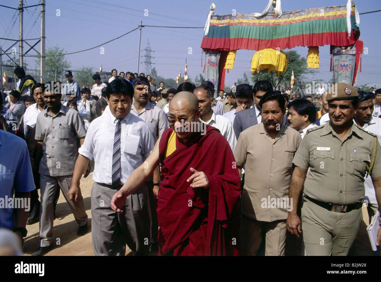 Dalai Lama 14th (Tenzin Gyatso), * 6.7.1935, Tibetan lama and politician, half length, SOS Children`s Villages, - Stock Image