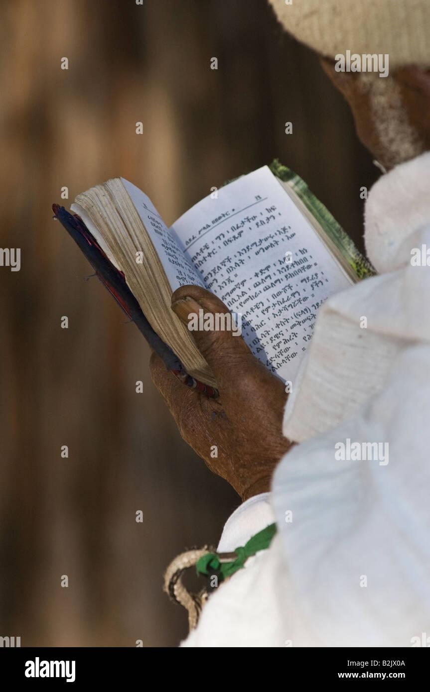 Holy Lalibela and its pilgrims, Ethiopia, Africa. - Stock Image