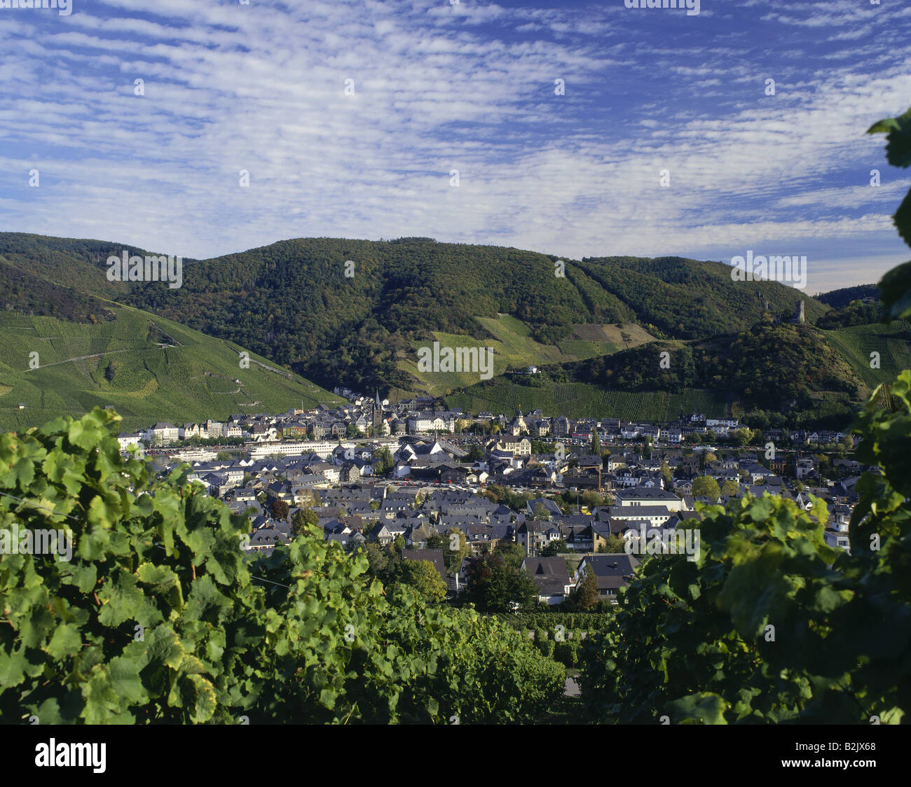 geography / travel, Germany, Rhineland-Palatinate, Bernkastel Kues, city views / cityscapes, Additional-Rights-Clearance - Stock Image
