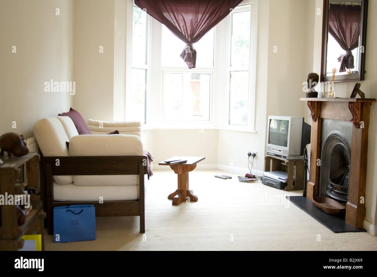 Modern Living Room Of A Victorian Terrace House London England Stock Photo Alamy