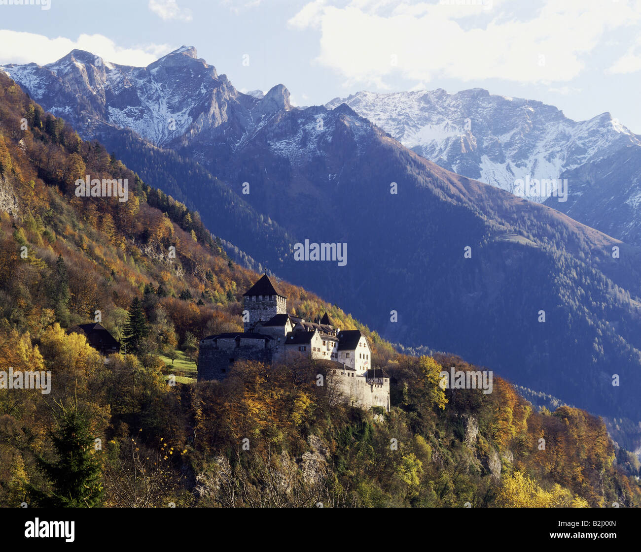 geography / travel, Liechtenstein, Vaduz, castles, Verduz Castle, Additional-Rights-Clearance-Info-Not-Available - Stock Image