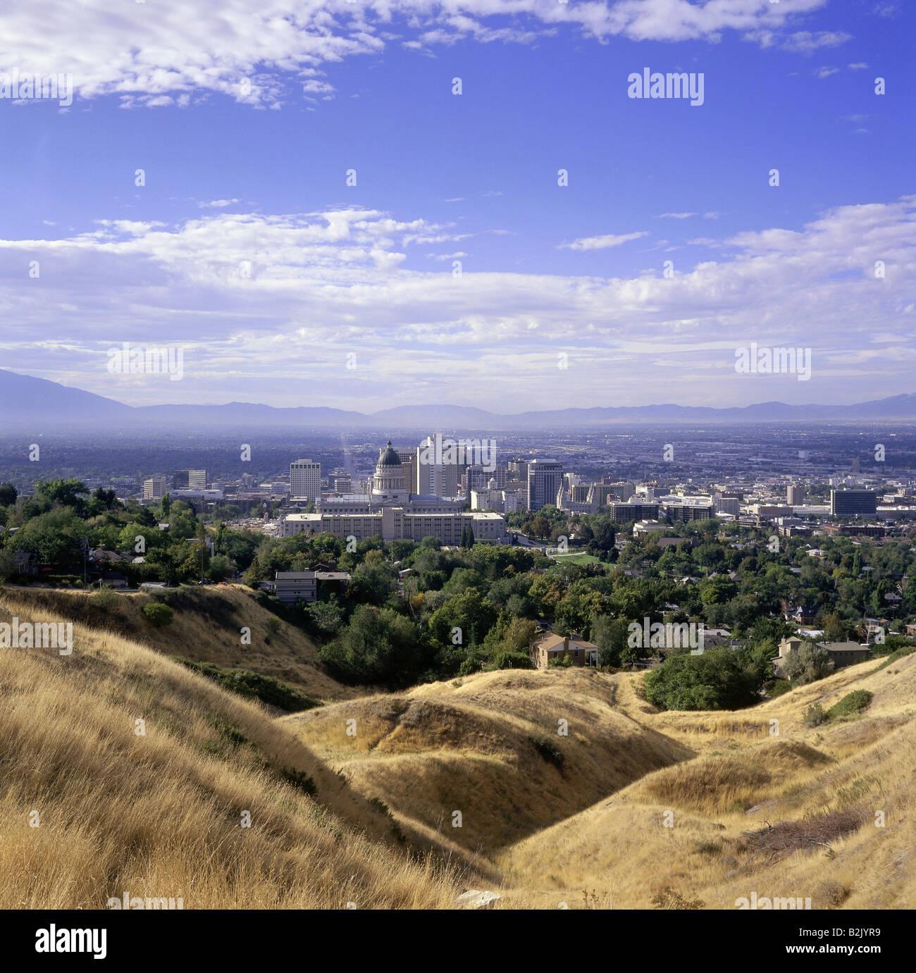 Travel Geography: Salt Lake City Utah Skyline Stock Photos & Salt Lake City