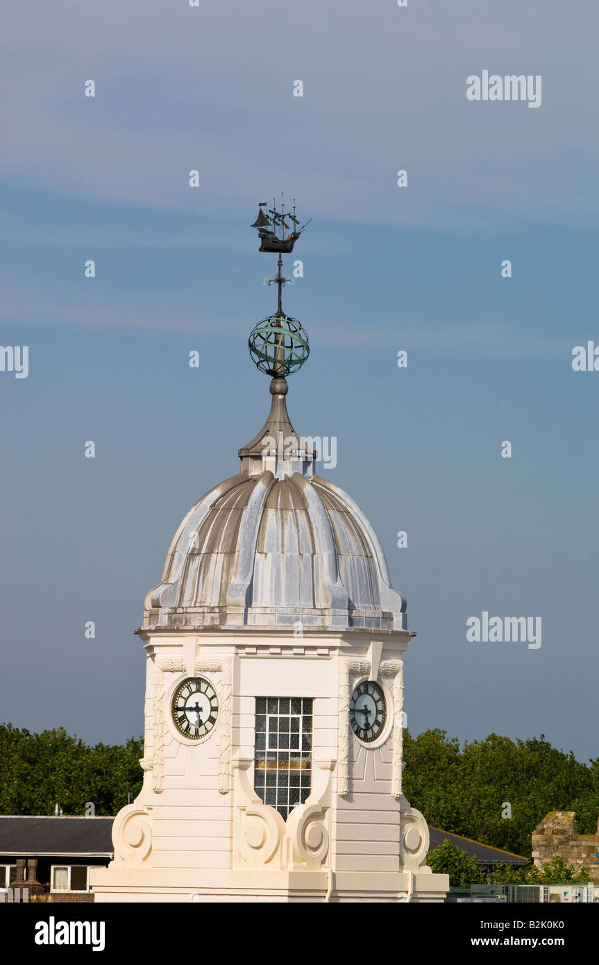 Architecture in harbour Southampton United Kingdom Stock Photo