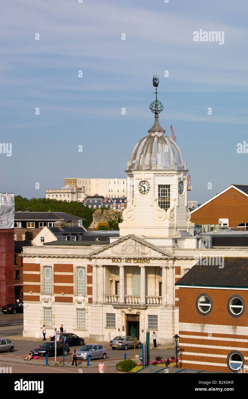 Architecture in harbour Southampton United Kingdom - Stock Image