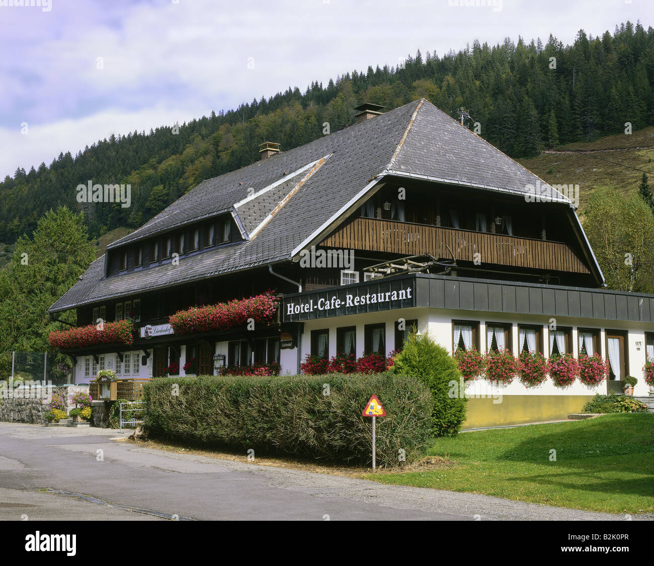 architecture, farmhouses, Germany, Baden-Wuerttemberg, Black Forest House, exterior view, Hinterzarten, Additional - Stock Image