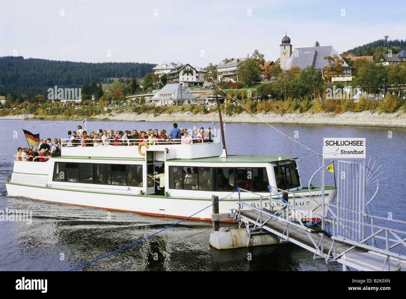 transport / transportation, tourist ship on Schluchsee in Black Forest, Südschwarzwald (South Black Forest), - Stock Image