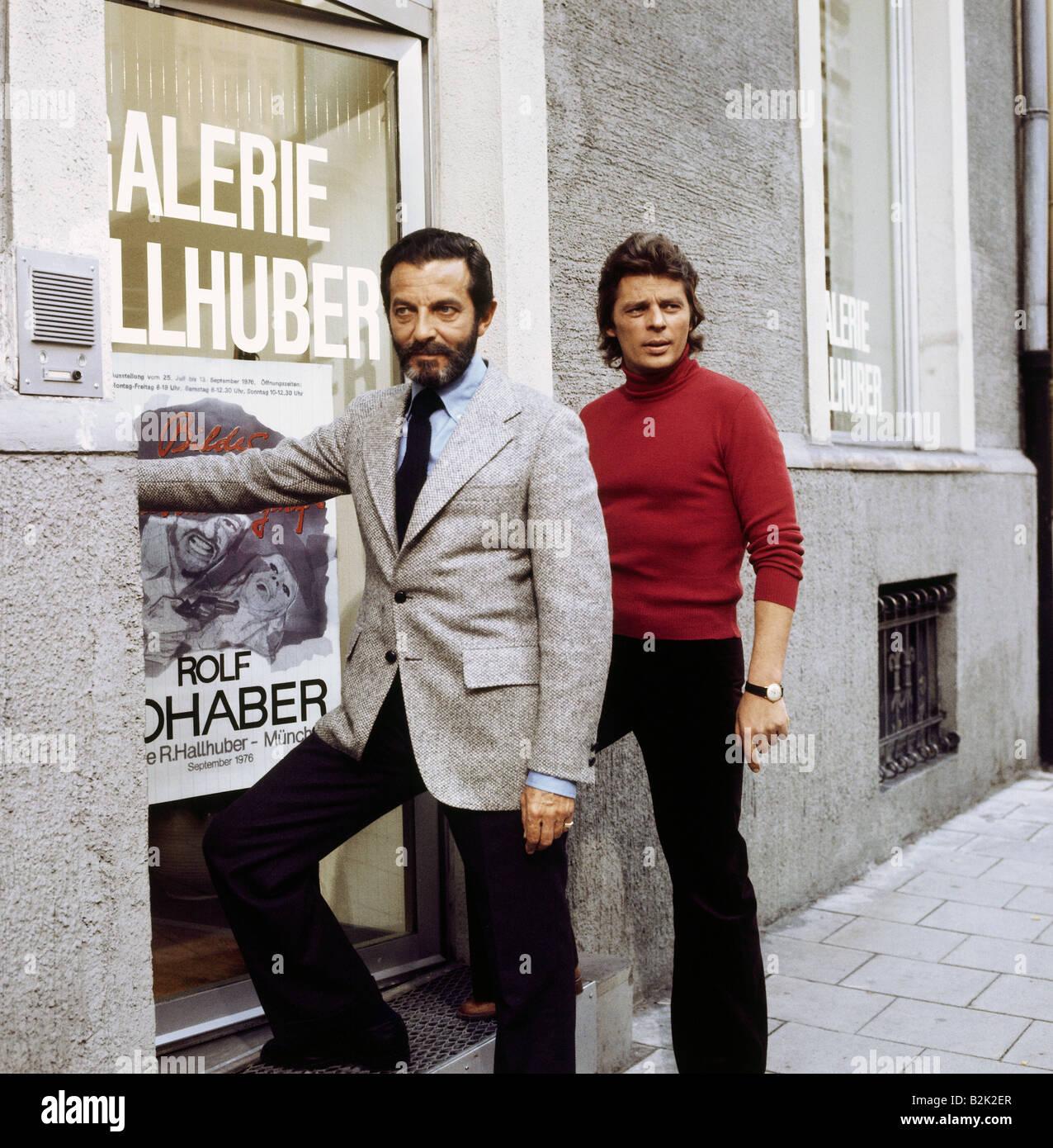 "Braun, Pinkas, 7.1.1923 - 24.6.2008, Swiss actor, full length, with Werner Umberg, tv series ""Joerg Preda berichtet"",Stock Photo"
