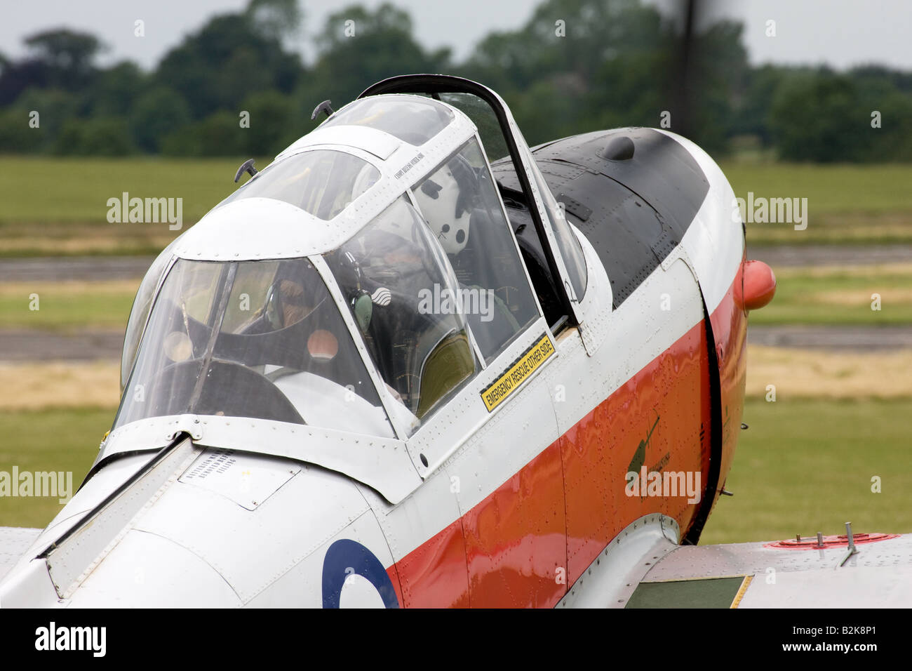 DeHavilland (Canada) DHC-1 Chipmunk 22 T10 WD390 68 G-BW*** at Wickenby Airfield - Stock Image