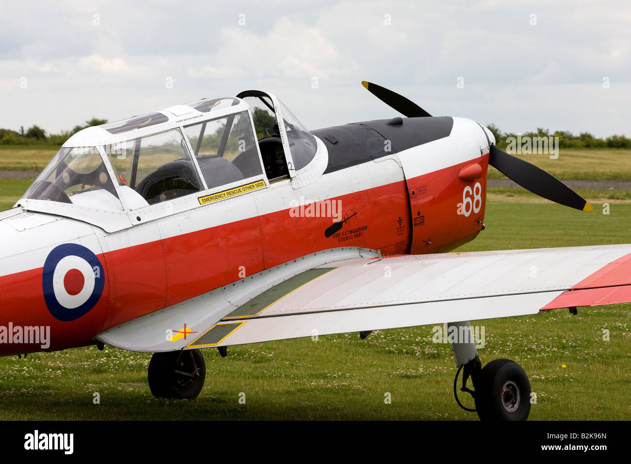 DeHavilland (Canada) DHC-1 Chipmunk 22 T10 WD390 68 G-BW*** parked at Wickenby Airfield - Stock Image