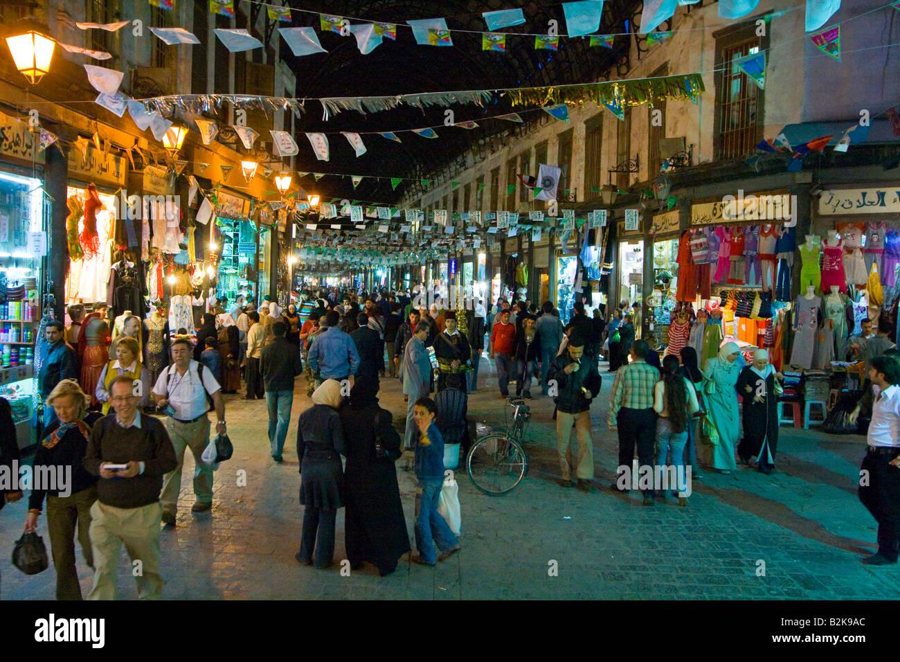 Hamidiyya Souq in Damascus Syria Stock Photo