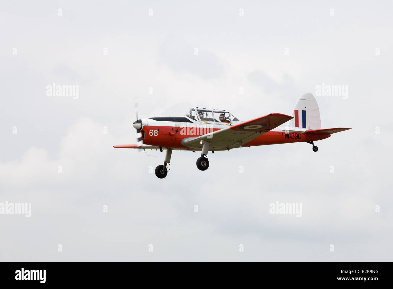 DeHavilland (Canada) DHC-1 Chipmunk 22 T10 WD390 68 G-BW*** in flight at Wickenby Airfield - Stock Image