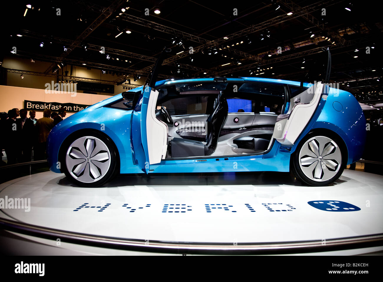 press day at The british international Motor Show On Show the toyota hybrid x - Stock Image
