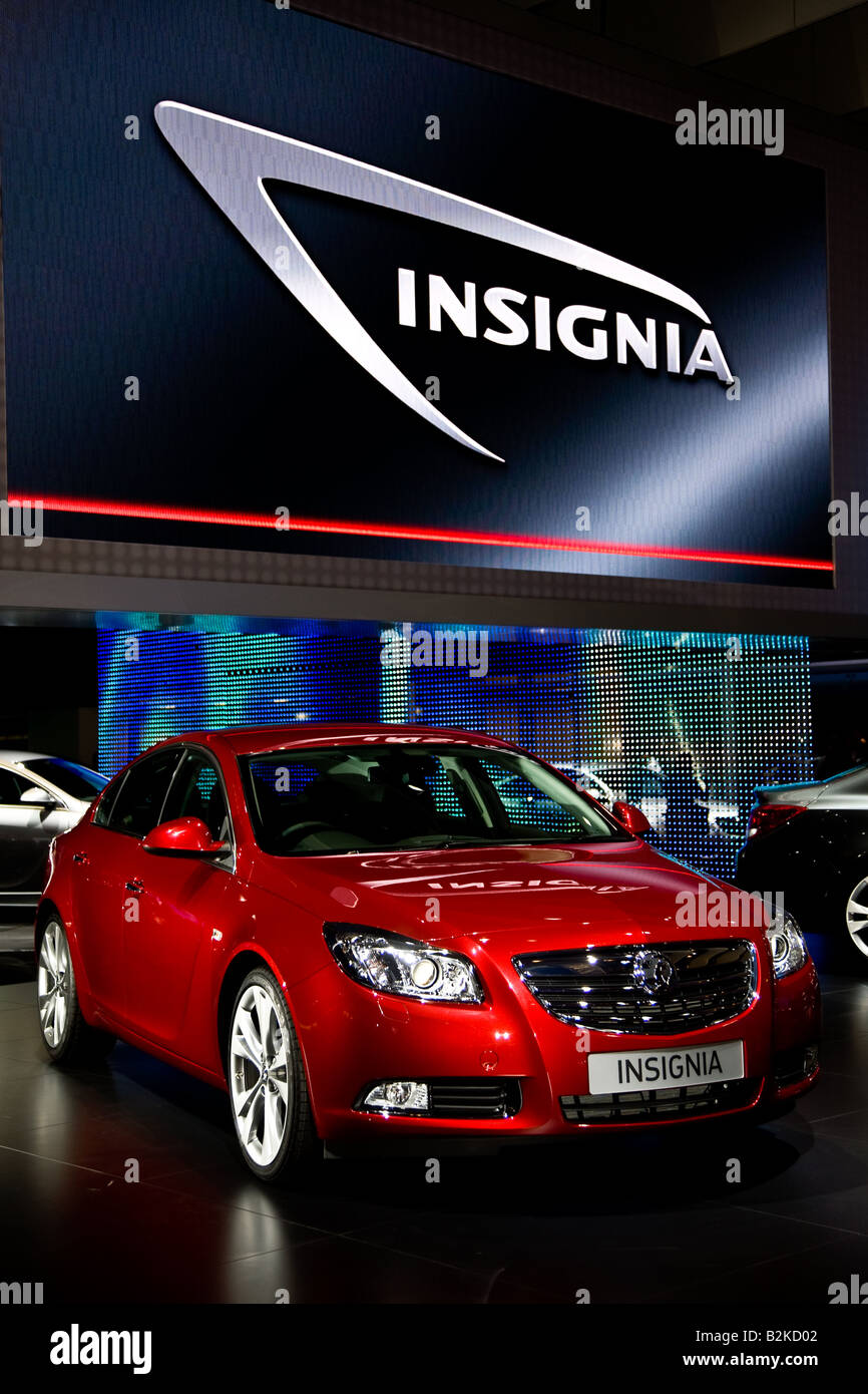 The new Vauxhall Insignia at the 2008 London Motor Show at the excel Centre London - Stock Image