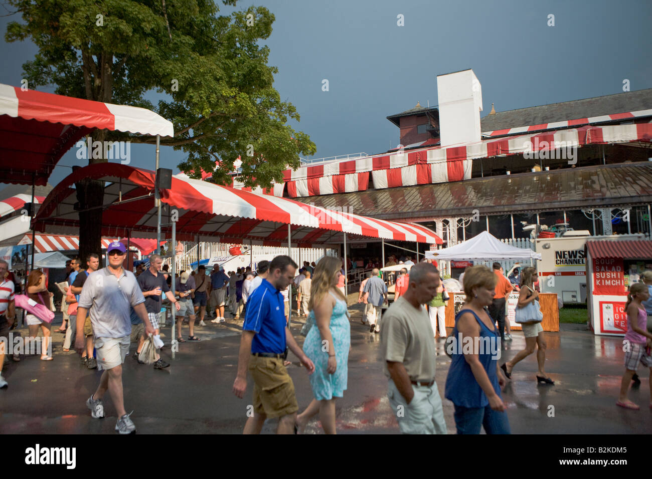 entrance to clubhouse and grandstand saratoga race track saratoga