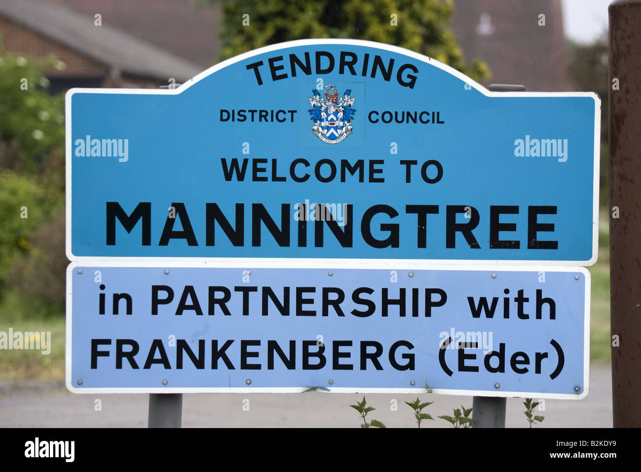 Manningtree the smallest market town in England - Stock Image