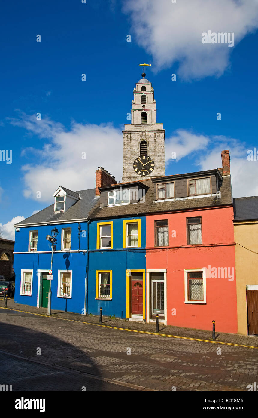 18th Century St Anne's Church Steeple with the clock known as the 'Four Faced Liar', Shandon, Cork City, - Stock Image