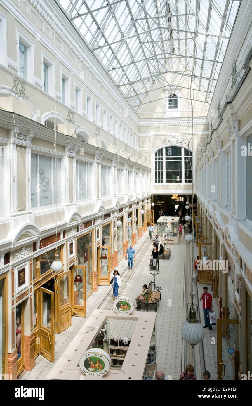 passazh shopping mall on nevsky prospekt st petersburg russia stock photo 18875998 alamy. Black Bedroom Furniture Sets. Home Design Ideas