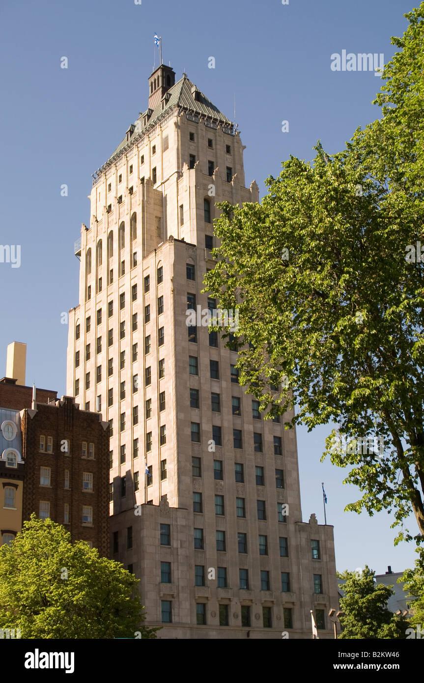 Edifice Price building, Quebec City, Canada - Stock Image