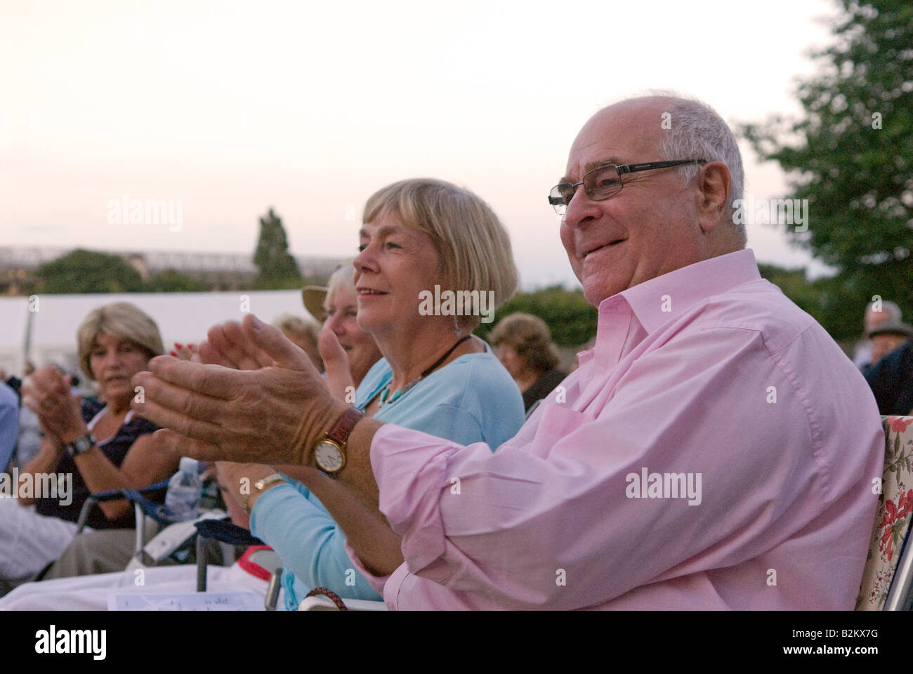 Audience at Concert in the Park Royal Military School of Music, Kneller Hall, Twickenham, Middlesex, UK. Wednesday - Stock Image