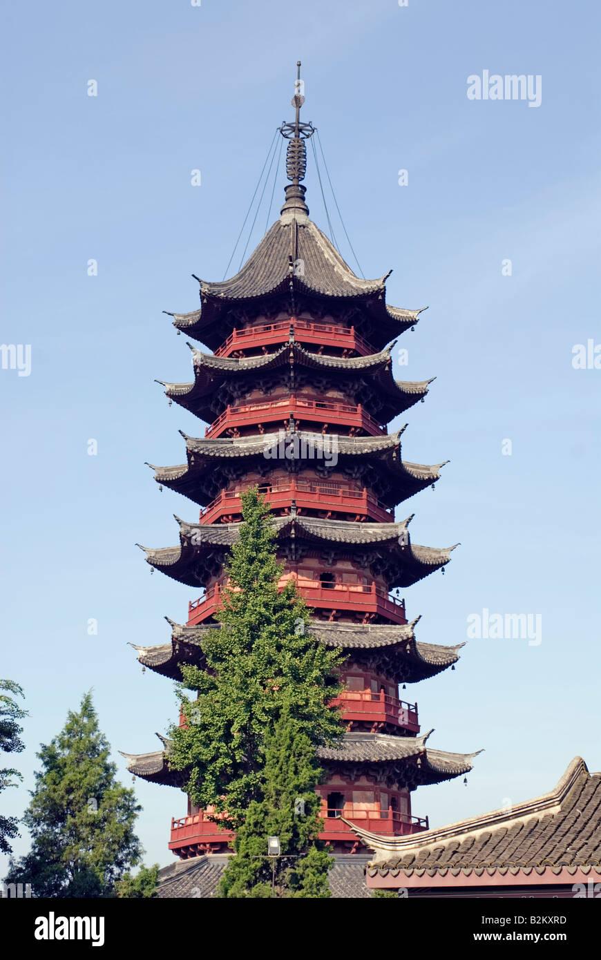 China, Suzhou, Auspicious Light Pagoda, Rui Guang Ta, Panmen - Stock Image