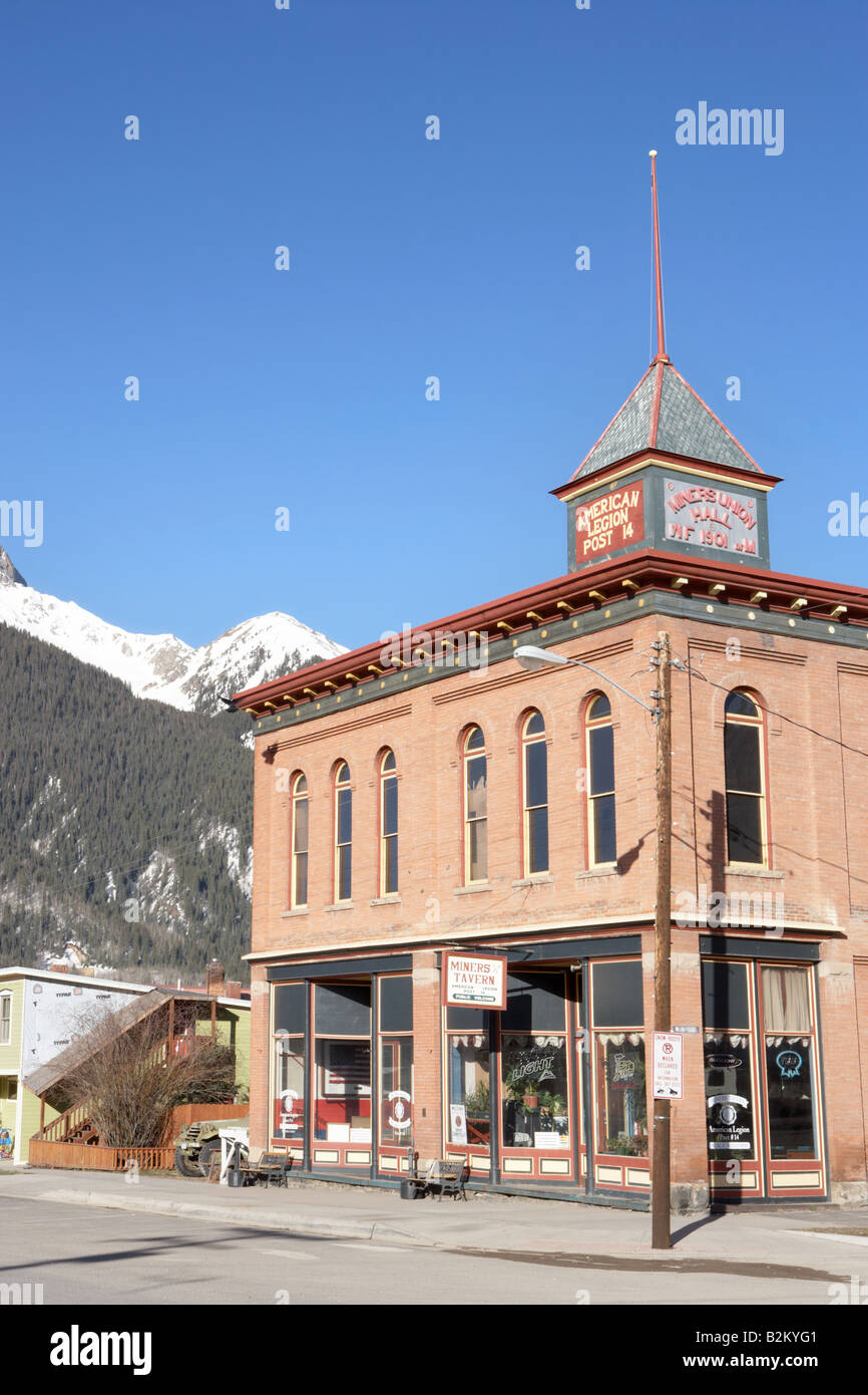 Green Street in Silverton Colorado USA - Stock Image
