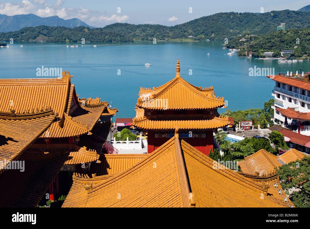Taiwan, Wen Wu Temple, Sun Moon Lake - Stock Image