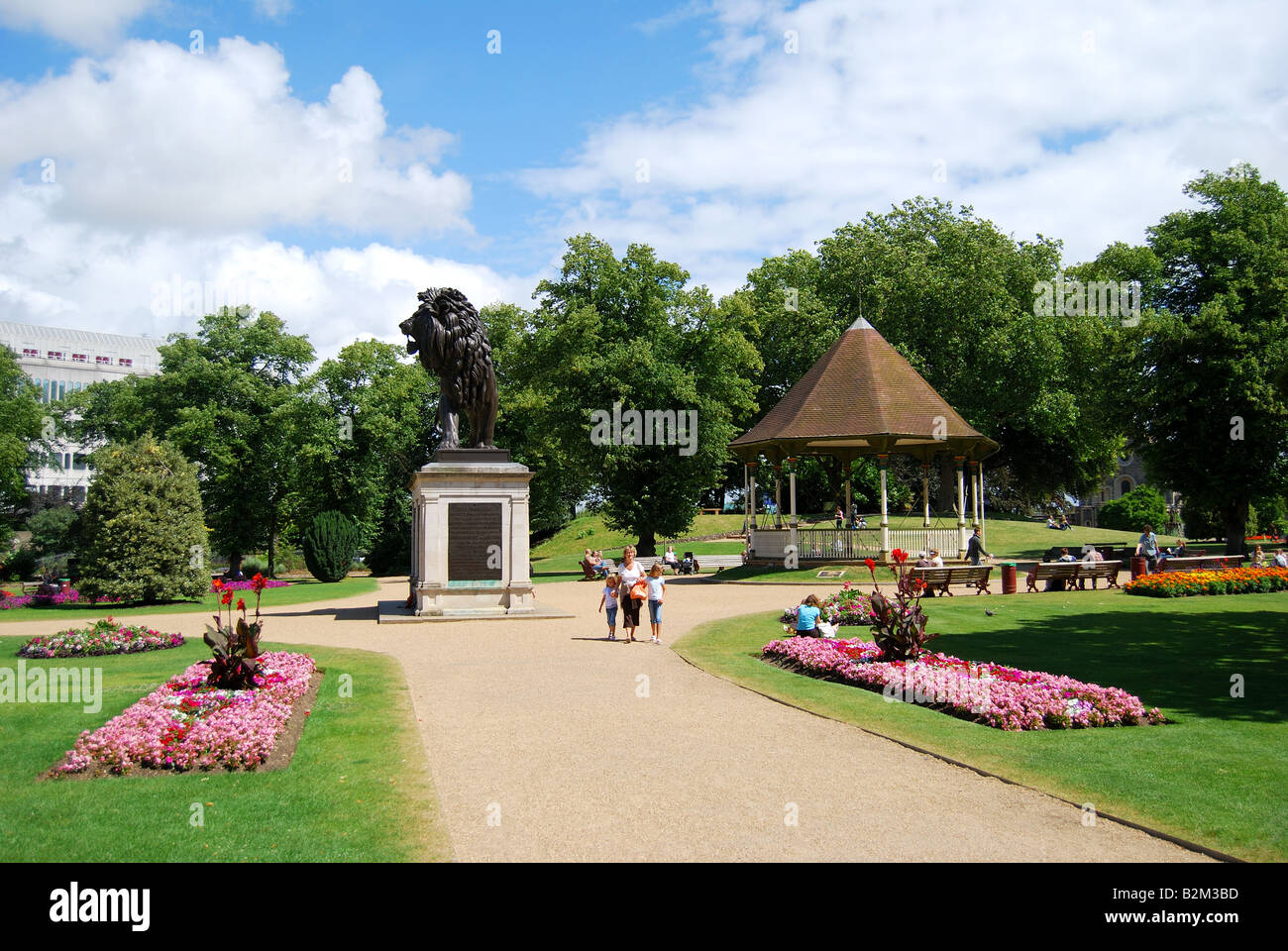 Gardens and bandstand, Forbury Gardens, Reading, Berkshire, England, United Kingdom Stock Photo