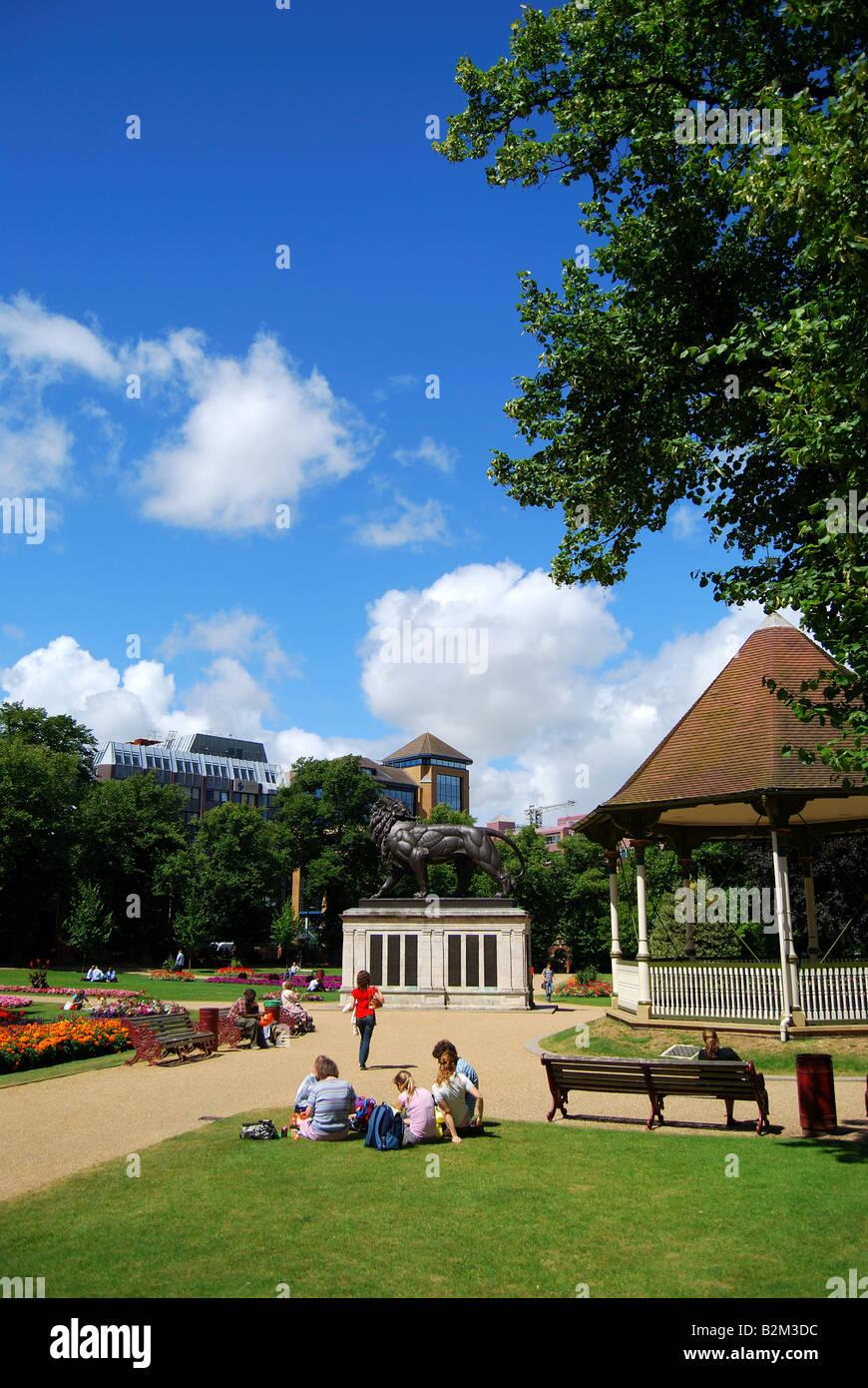 Gardens showing bandstand, Forbury Gardens, Reading, Berkshire, England, United Kingdom Stock Photo