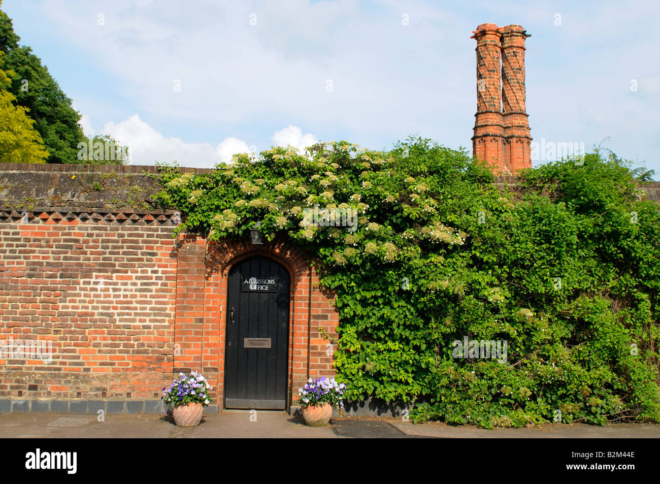 Eton College , The entrance door of the Admissions Office , Berkshire , England , UK - Stock Image