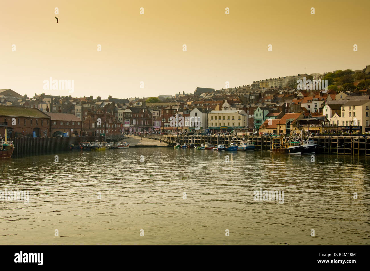 Harbour and seafront of South Bay Scarborough UK - Stock Image