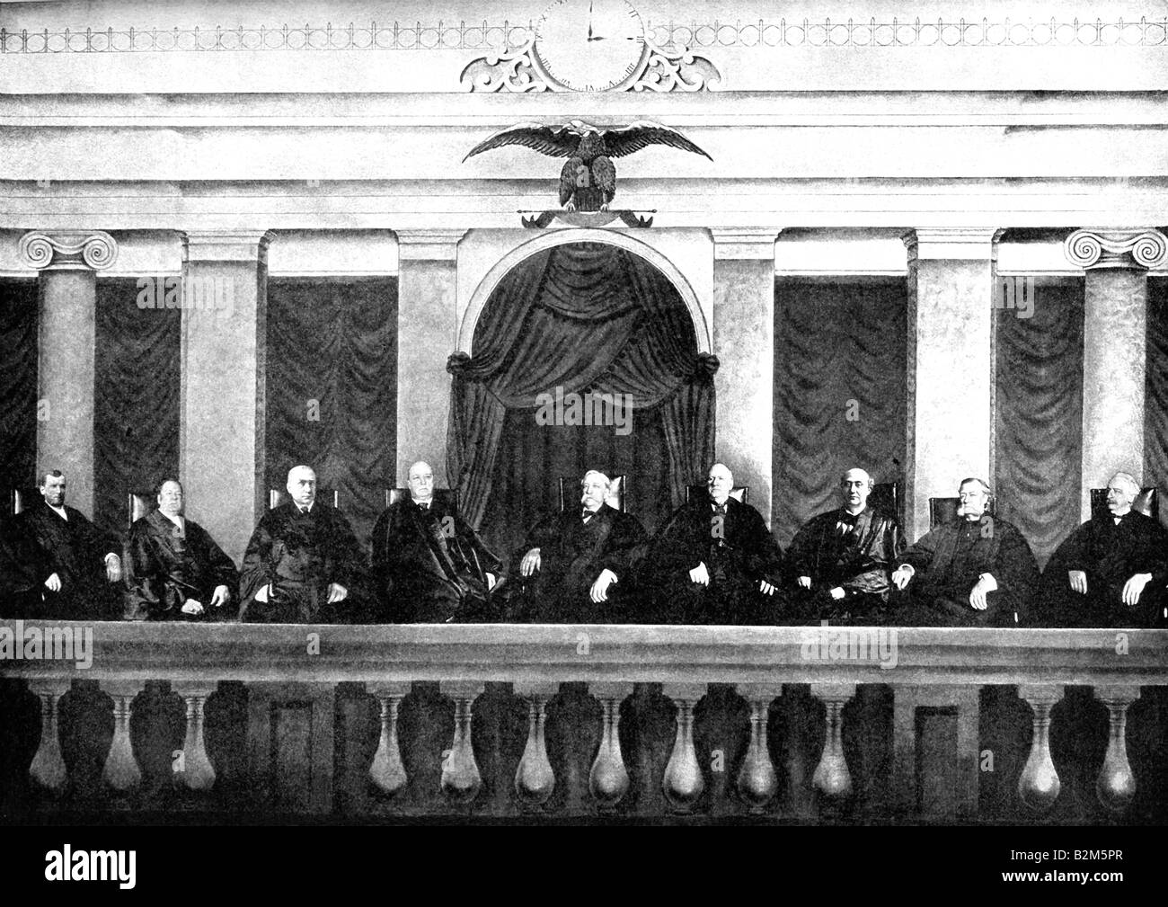 Supreme Court Justices in 1905 - Stock Image