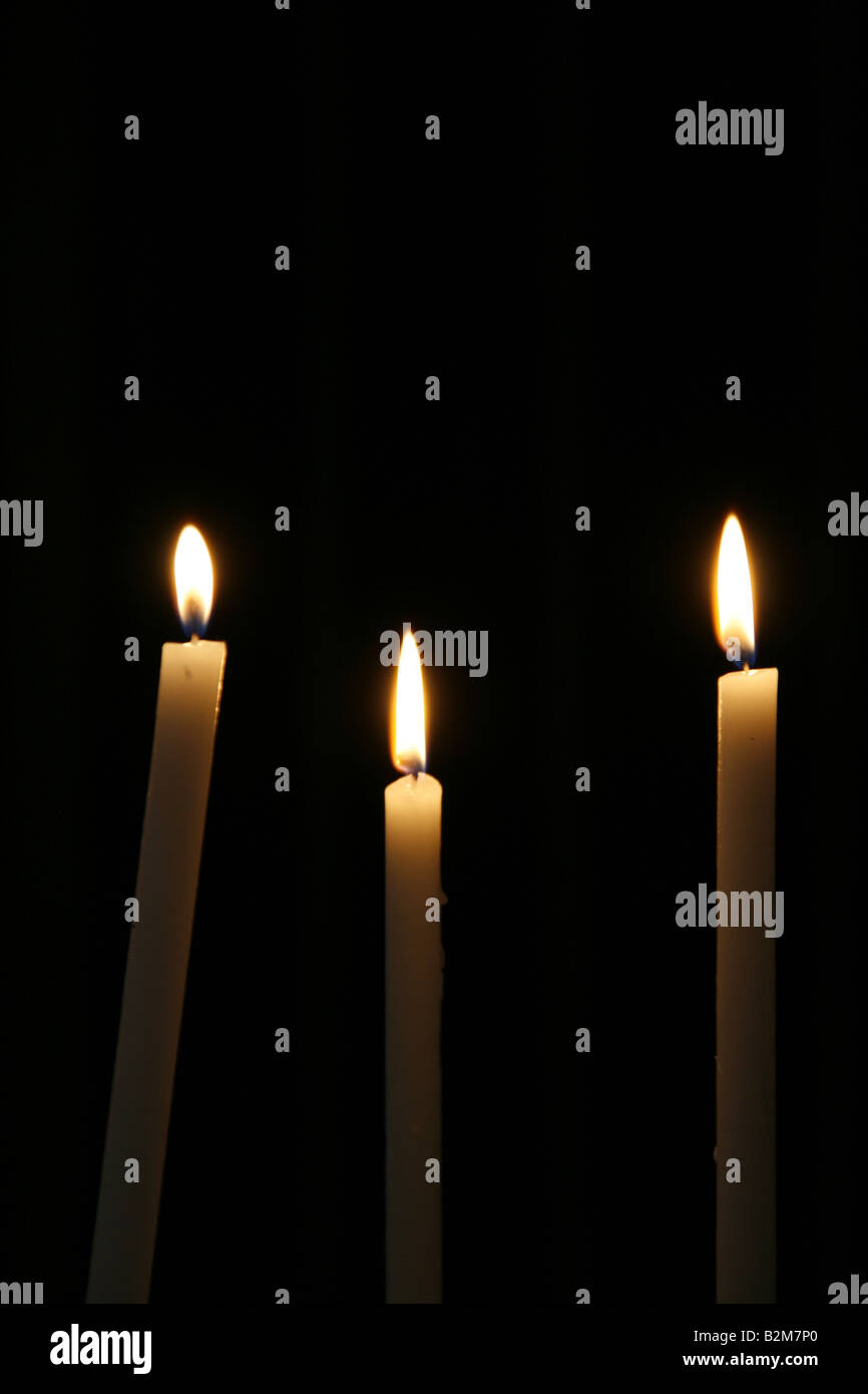 Many Lit Candles In Dark Room In Church Stock Photo 18884824 Alamy