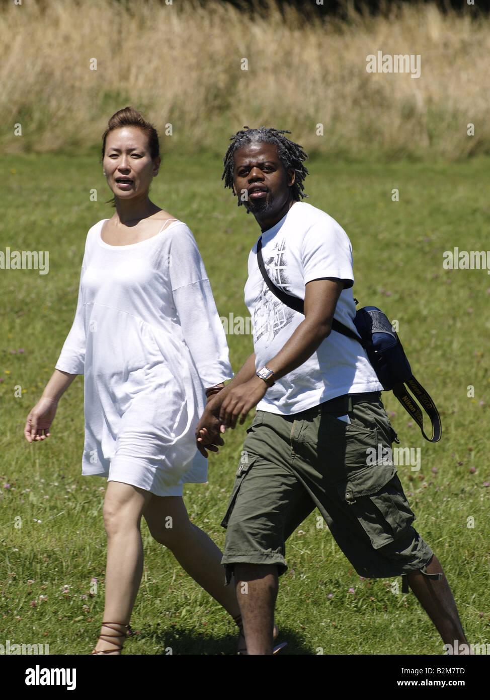 Black man in asian women