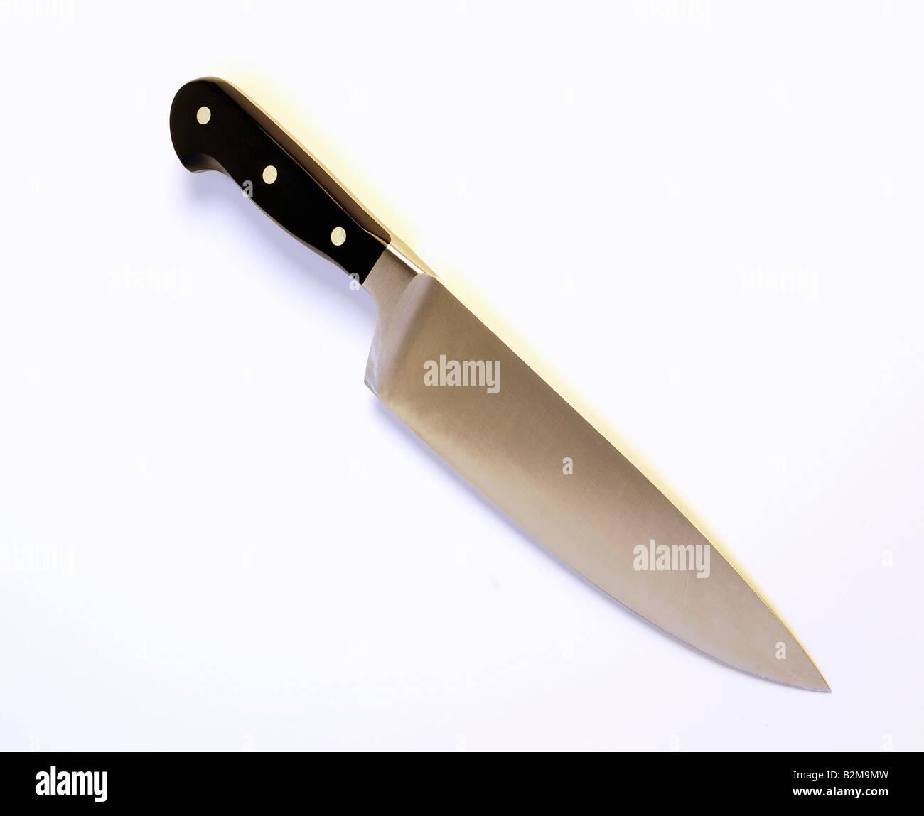 Kitchen Knife on white background - Stock Image