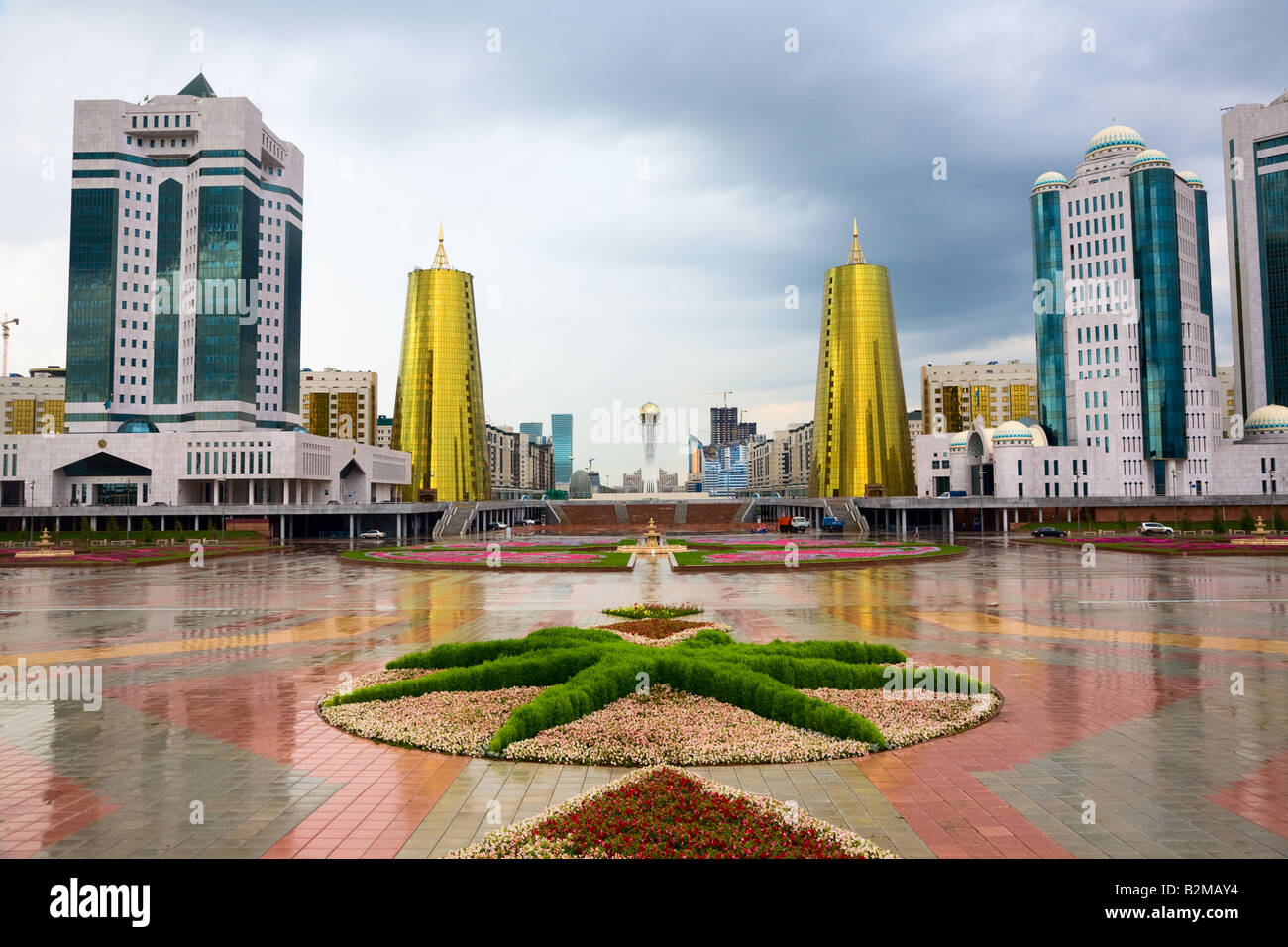 City landscape Astana capital of Kazakhstan Republic august 2007 - Stock Image