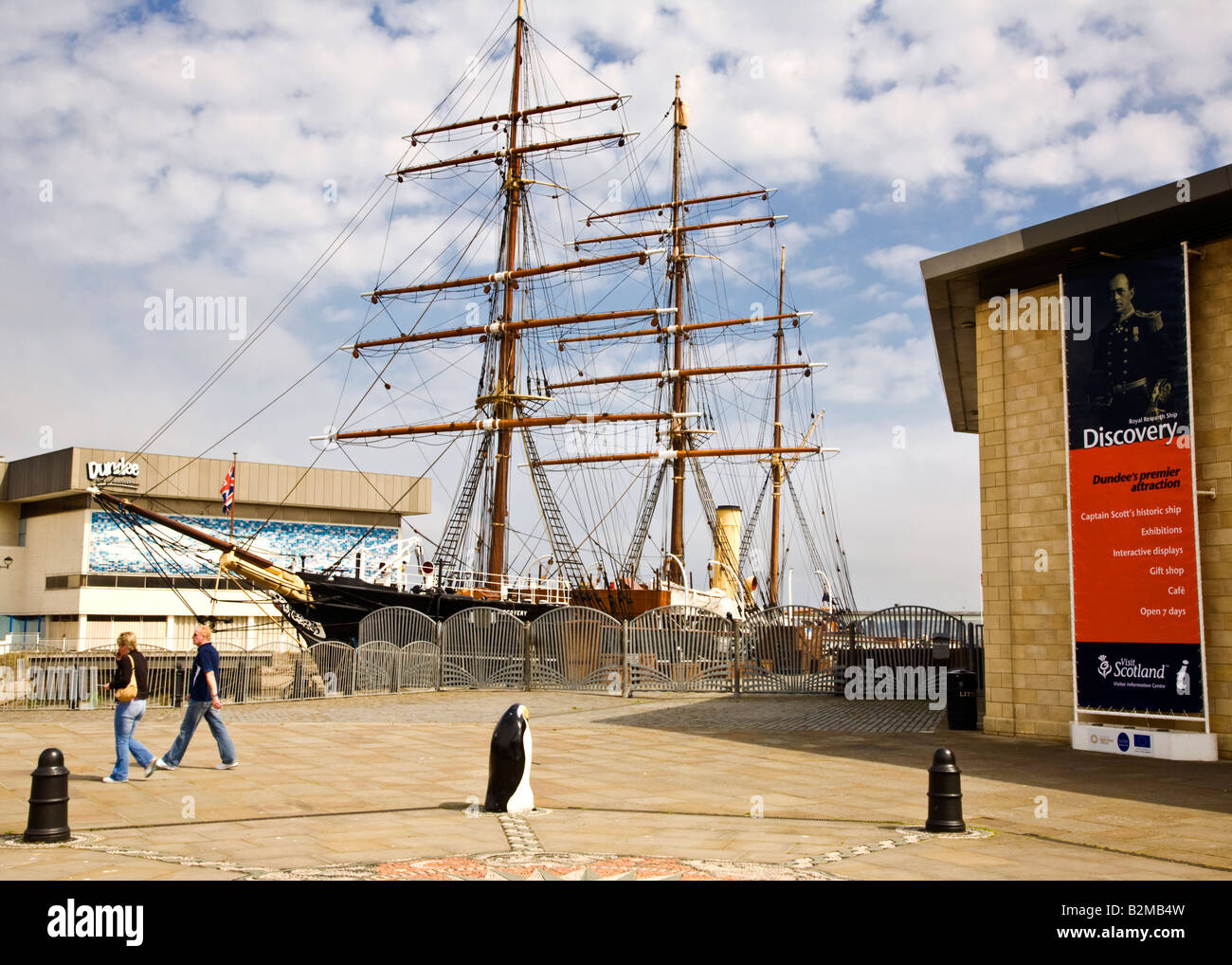 The RRS Discovery at Discovery Point, Dundee, Scotland. - Stock Image