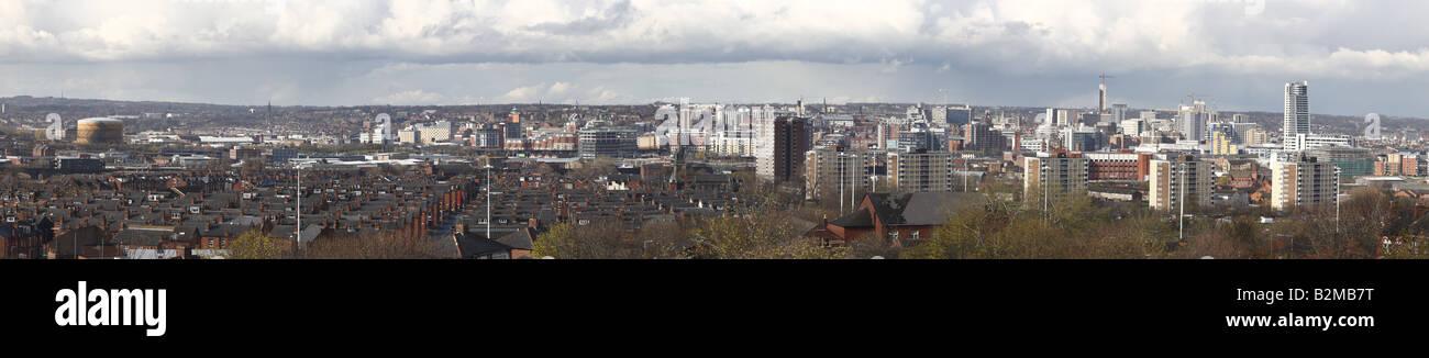 Leeds City Centre Panorama - Stock Image