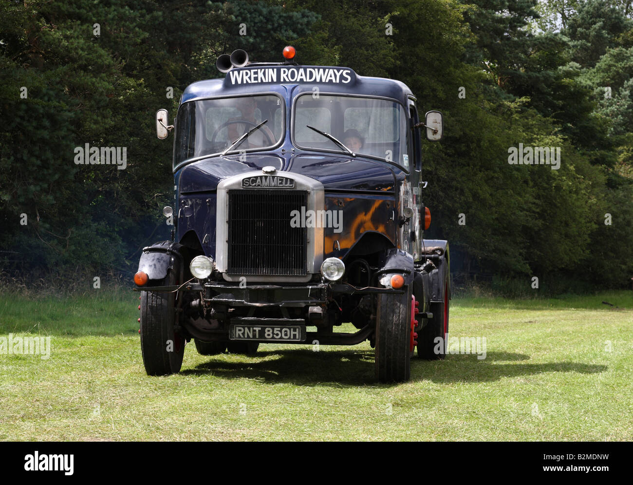 A vintage 1969-1970 Scammell lorry at the Cromford Steam Engine Rally 2008. - Stock Image