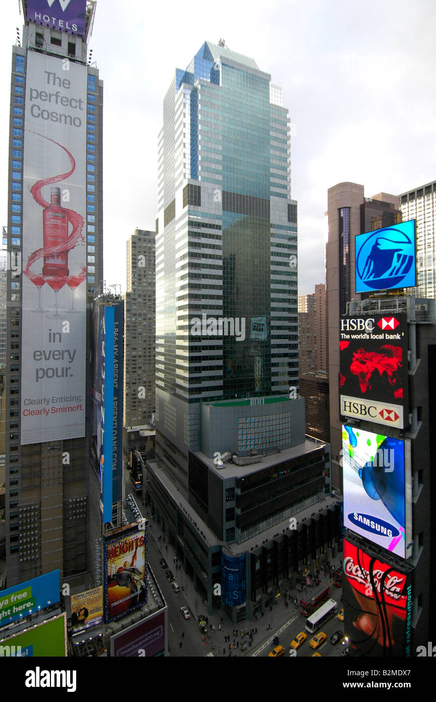 Morgan Stanley Building, Times Square, New York city Stock Photo