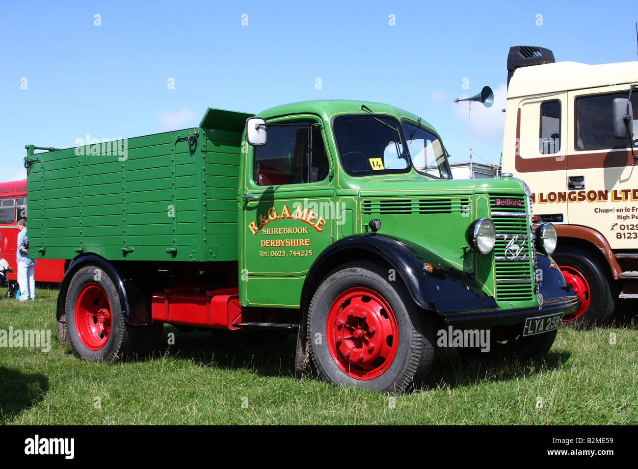 A vintage Bedford lorry at the Cromford Steam Engine Rally 2008. - Stock Image