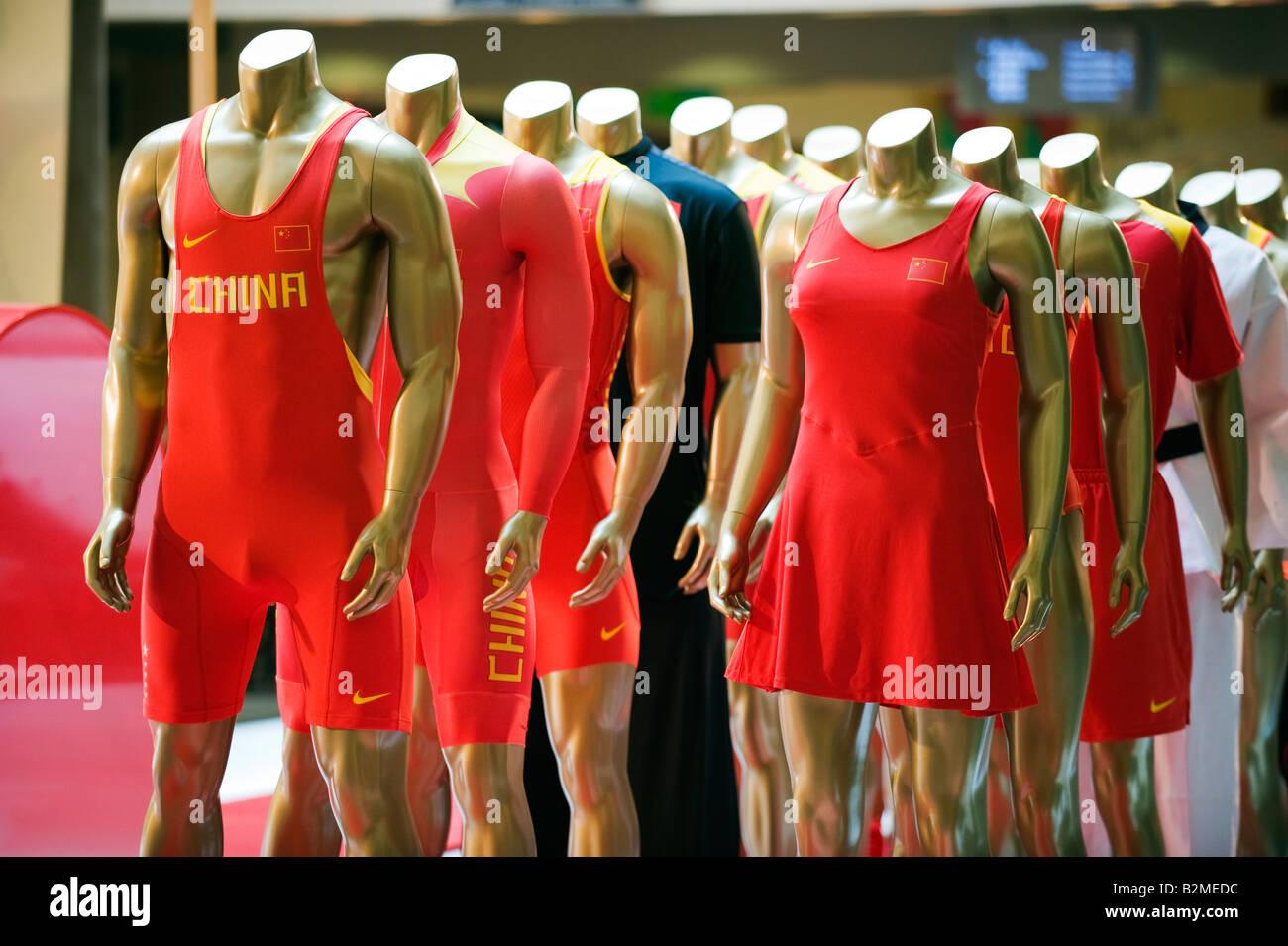 China Beijing Wangfujing Olympic sporting display Stock Photo