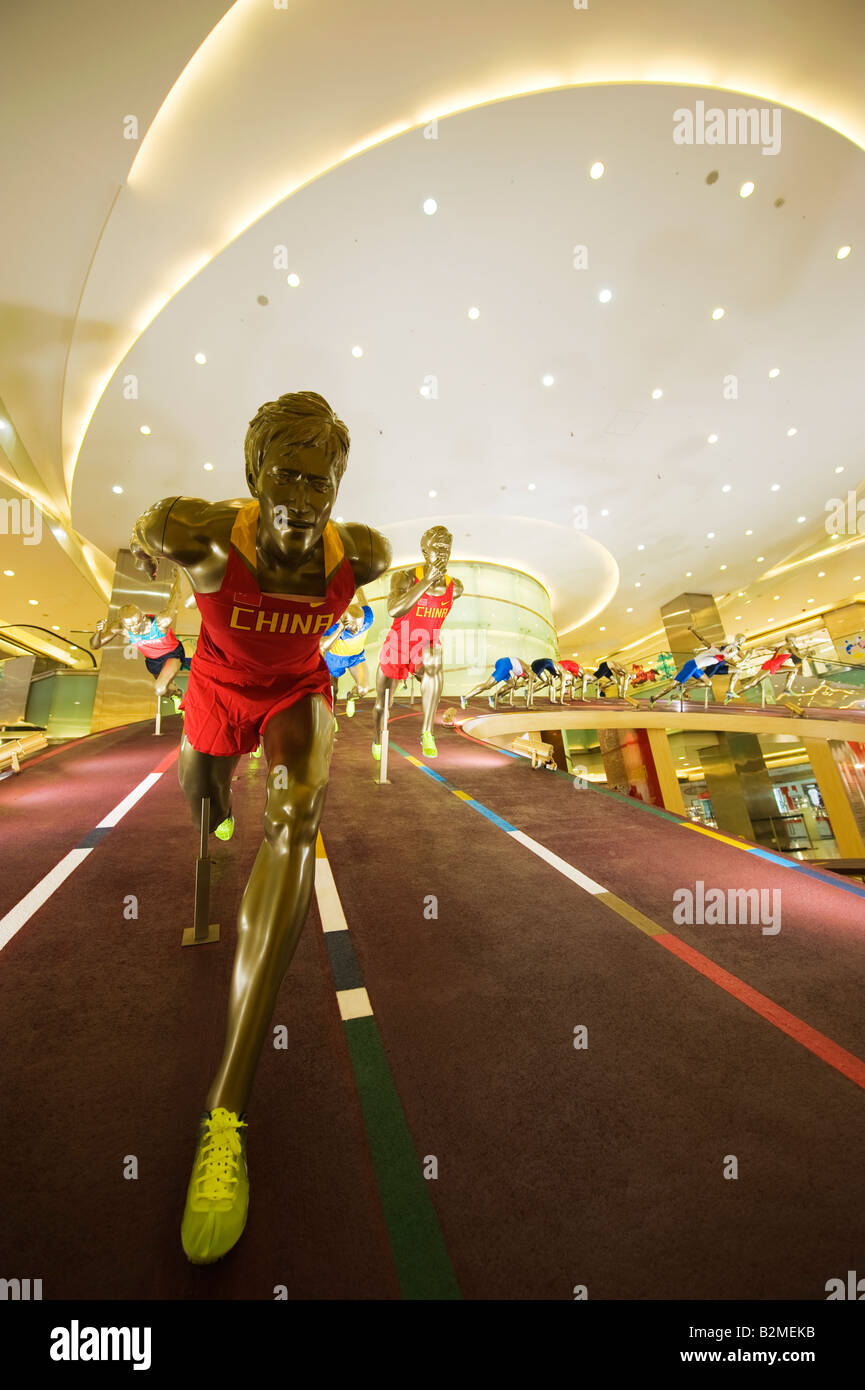 China Beijing Wangfujing Olympic sporting display - Stock Image