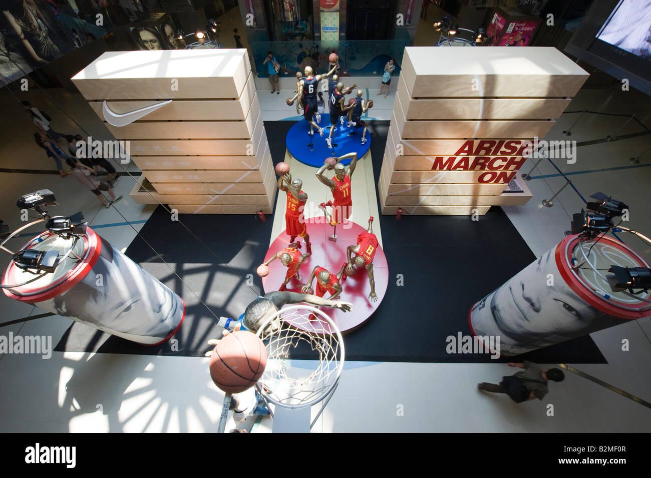 Wangfujing Shopping centre - Stock Image